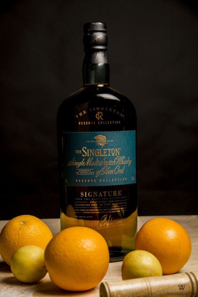 Whisky cocktail with orange