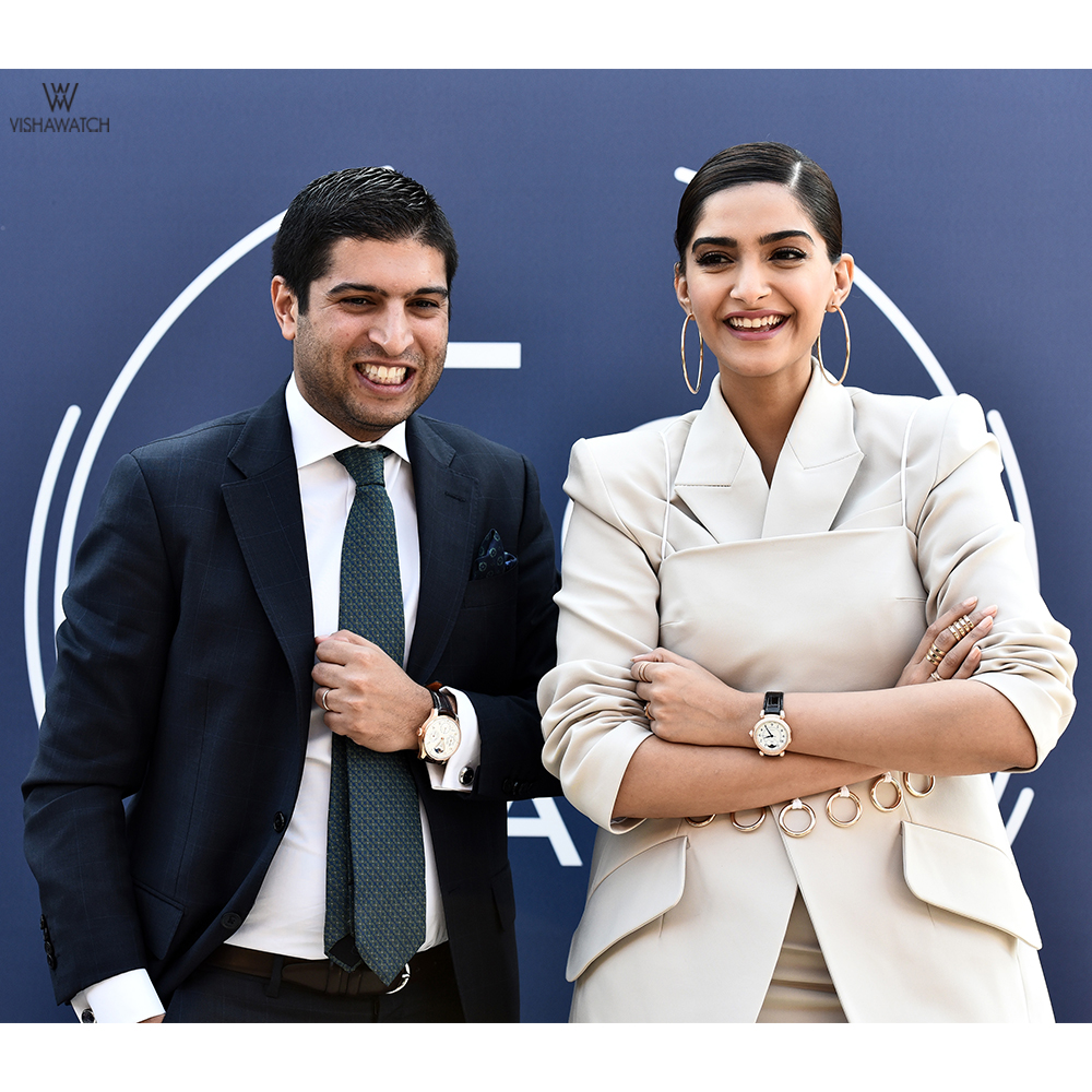 Brand Ambassador Sonam Kapoor with Mehdi Rajan, Brand Director, Middle East, India and Africa