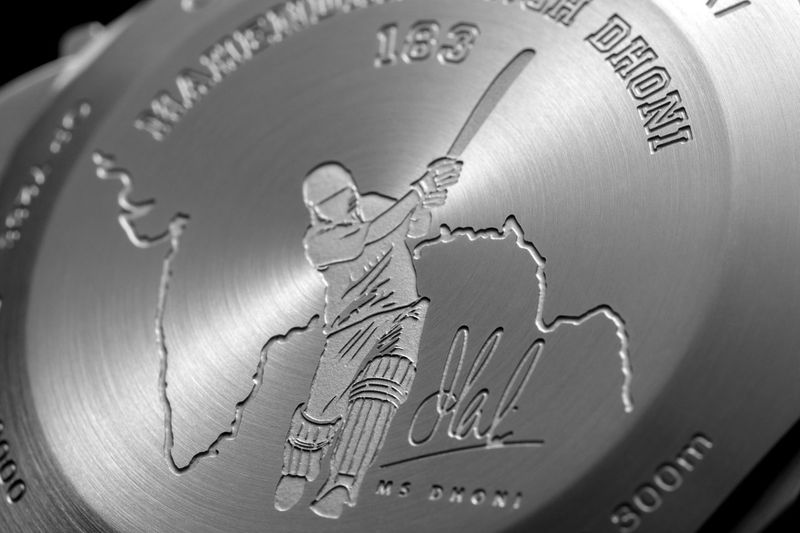 dhoni watch back - Panerai plays the helicopter shot with MS Dhoni special edition watches