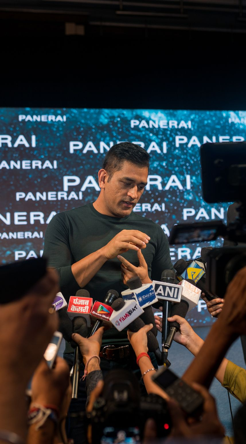 ms dhoni panerai00128 - Panerai plays the helicopter shot with MS Dhoni special edition watches